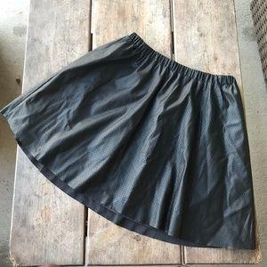Gap Kids Perforated Black Pleather Skirt Girls NEW
